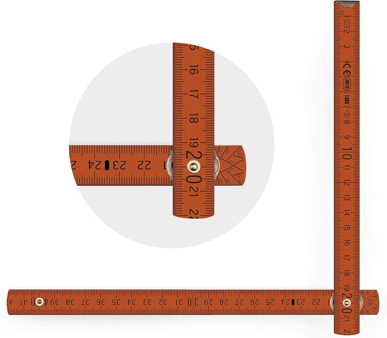 Metrie BL52 escala de 2 m, doble color Metro plegable