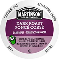 Martinson 48 Count Single Serve Dark Roast Coffee Capsules Compatible with Keurig K-Cup Brewers