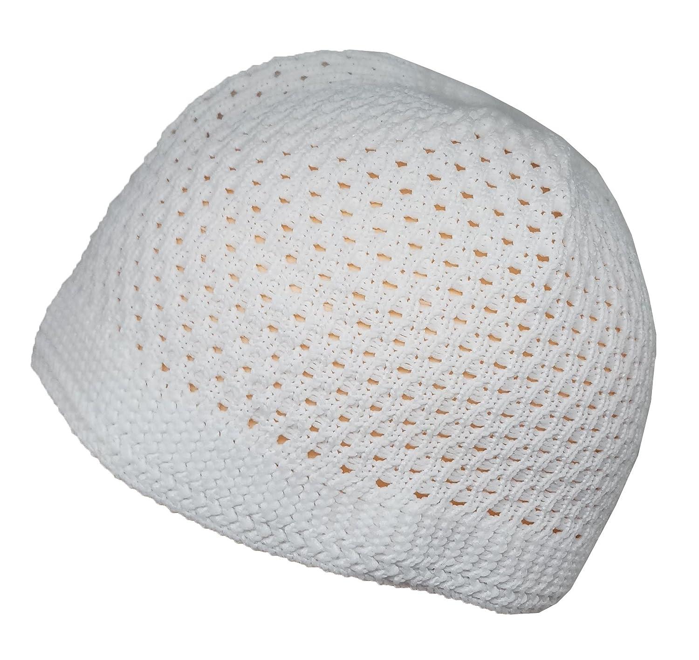 c01346661bb Set black white muslim skull cap beanie islam crochet takke kufi hat at  amazon mens clothing