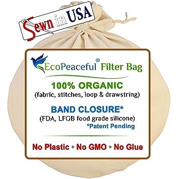 Amazon.com: EcoPeaceful, bolsa reutilizable para preparar ...