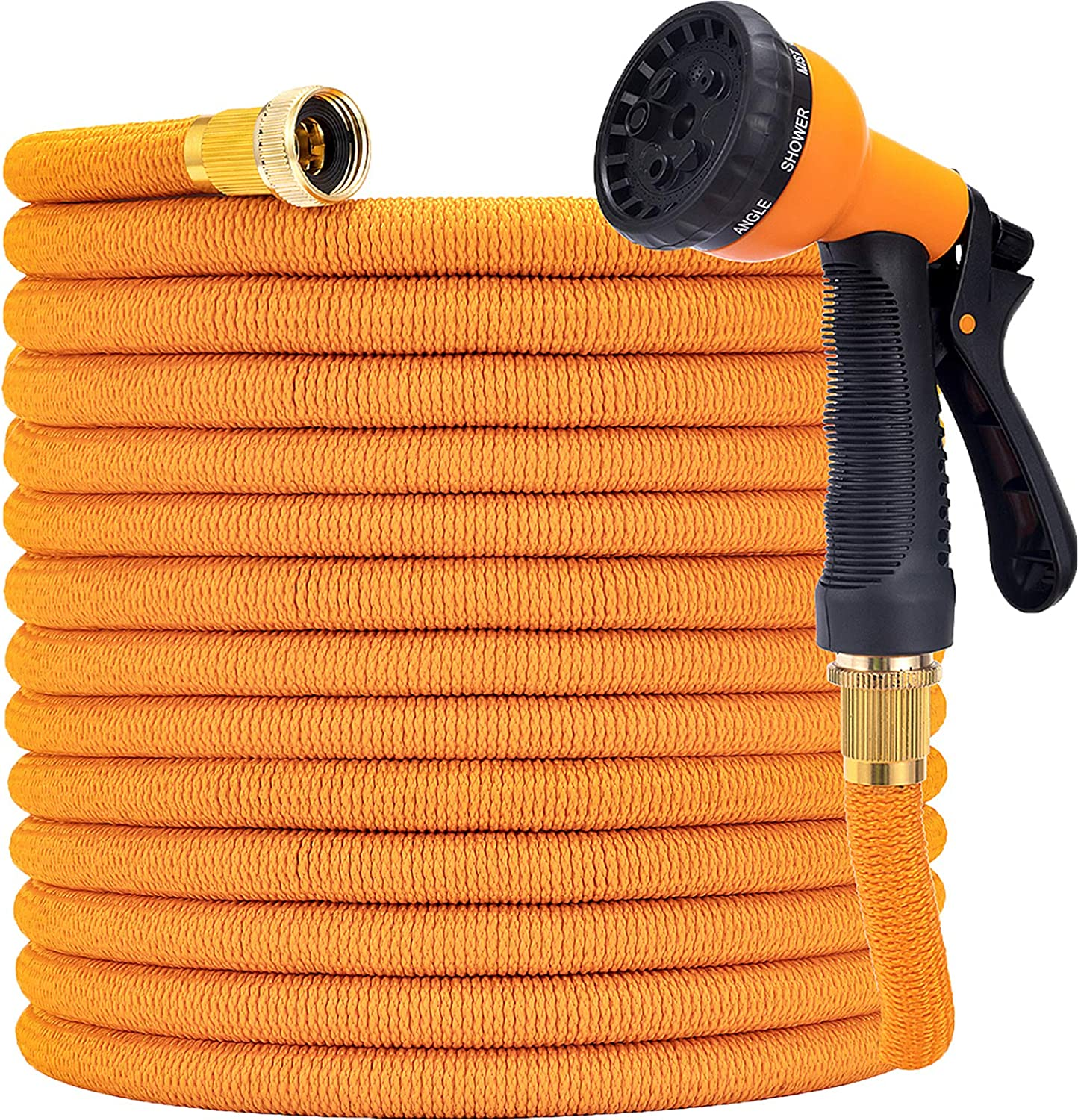 YOJULY Garden Hose Expandable -50ft Expandable Hose, Leakproof Lightweight Expanding Garden Water Hose 3-Layers Latex,Best Choice for Watering and Washing