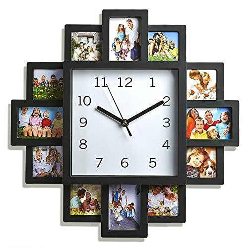 Design Wall Clock with Photo Frames - Photo Clock 12 Pictures ...