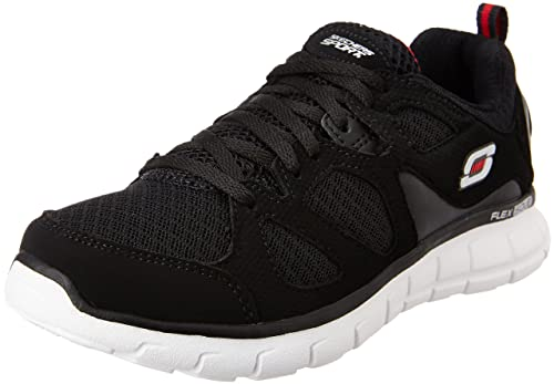 58a75e162875 Skechers Boy s Vim - Turbo Ride Black and Red Sneakers - 1 UK India ...