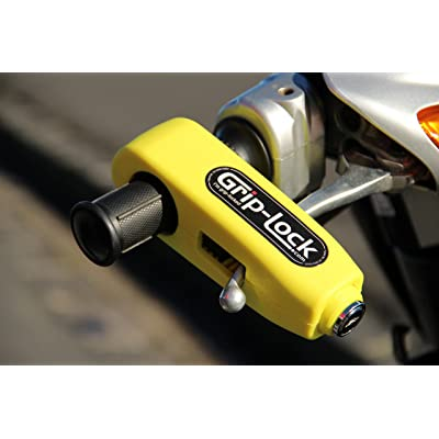 Grip-Lock – The original and genuine Motorcycle and Scooter Security Lock - Yellow: Automotive