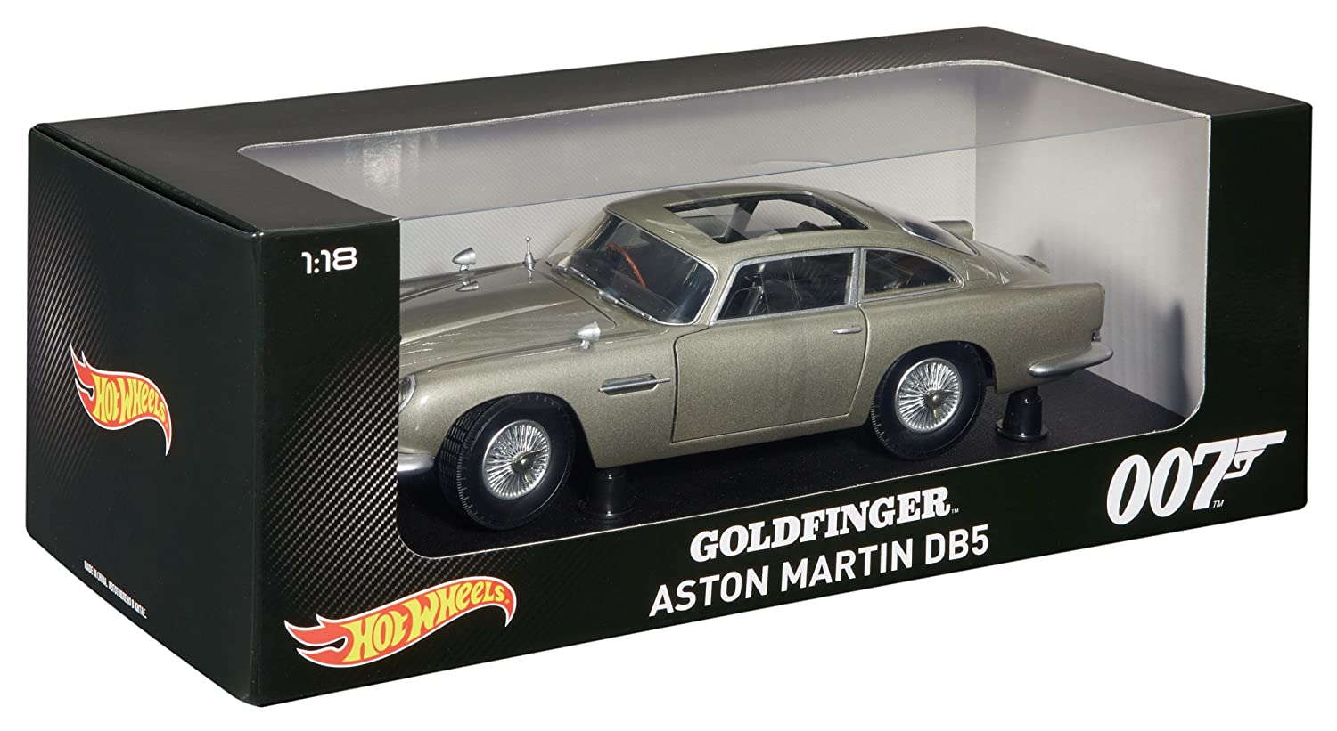 Amazon.com: Hot Wheels Collector James Bond Goldfinger Aston Martin DB5  Die Cast Vehicle (1:18 Scale): Toys U0026 Games
