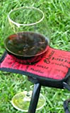 Winerest Wine Glass Holder w/ Sturdy Velcro Strap Made for Outdoor Chairs (Red)