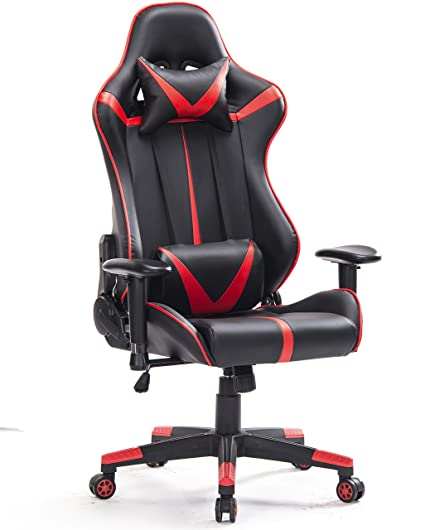 Amazon Com Ergonomic Red And Black Gaming Chair Kitchen Dining