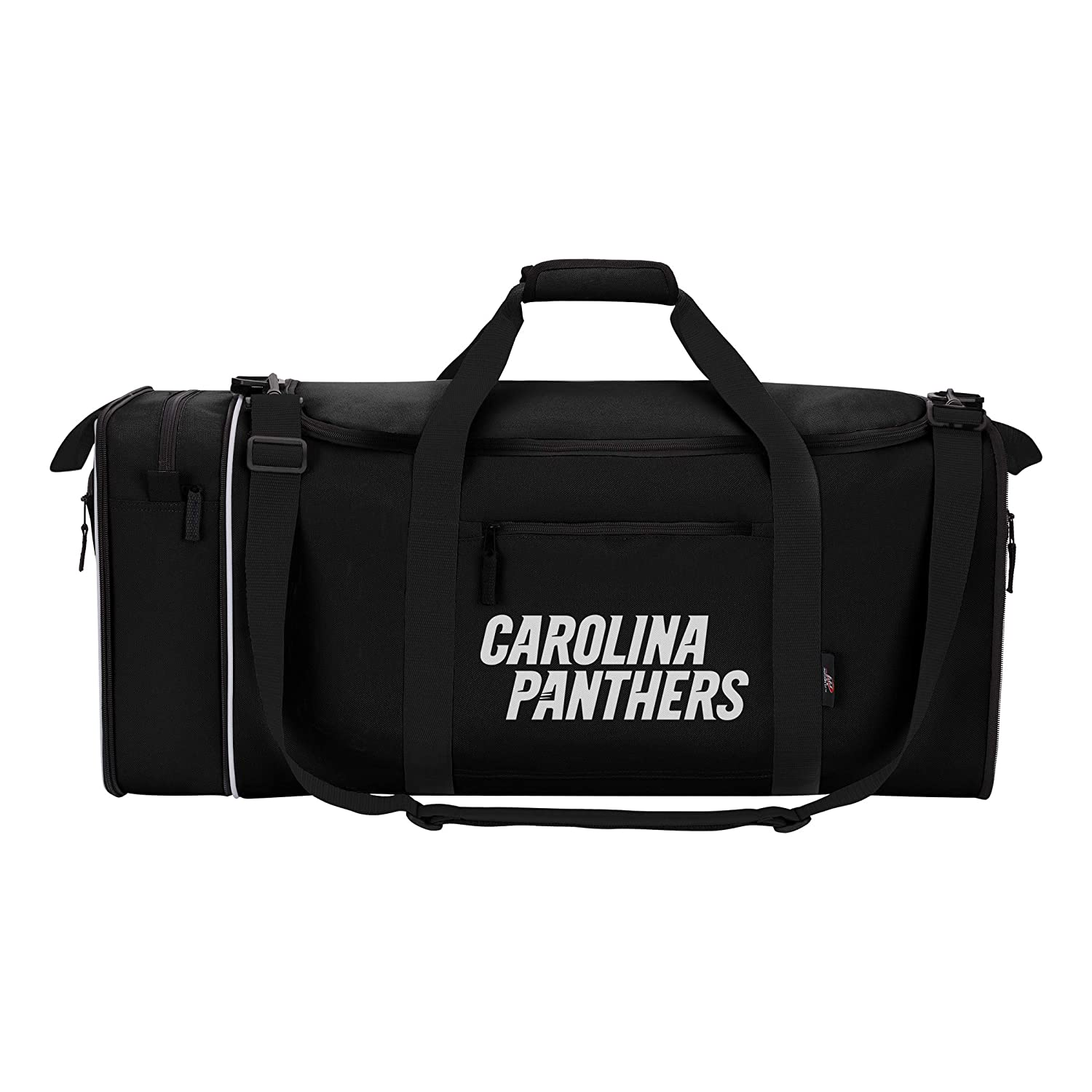 017435cf0b Amazon.com   Officially Licensed NFL Carolina Panthers Steal Duffel Bag    Sports   Outdoors