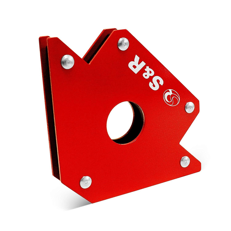 S&R Escuadra Magnética Soldadura I Imán para soldador 45 ° I 90 ° I 135° Hasta 34 kg - 125 mm: Amazon.es: Bricolaje y herramientas