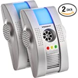 Hoont 2 Pack Plug-in Electronic Total Pest Eliminator + Night Light - Eradicates Insects and Rodents