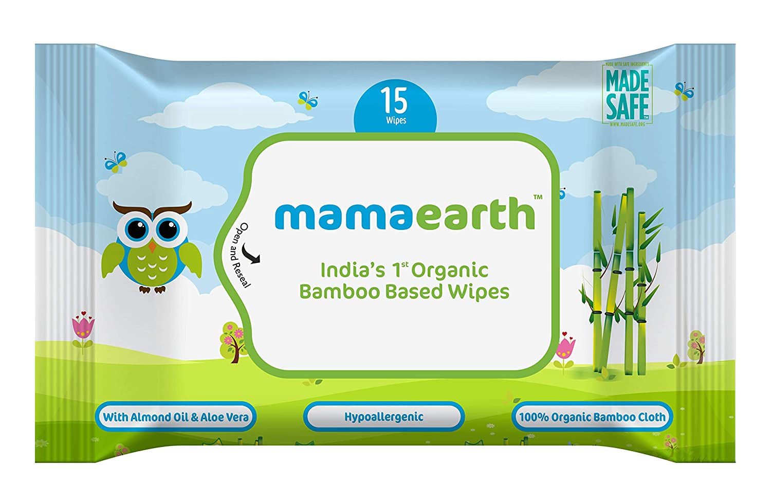 Mamaearth India's First Organic Bamboo Based Baby Wipe