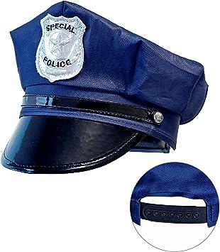 Widmann Gorro de policía para niños, color azul, talla única (03327) , color/modelo surtido: Amazon.es: Juguetes y juegos