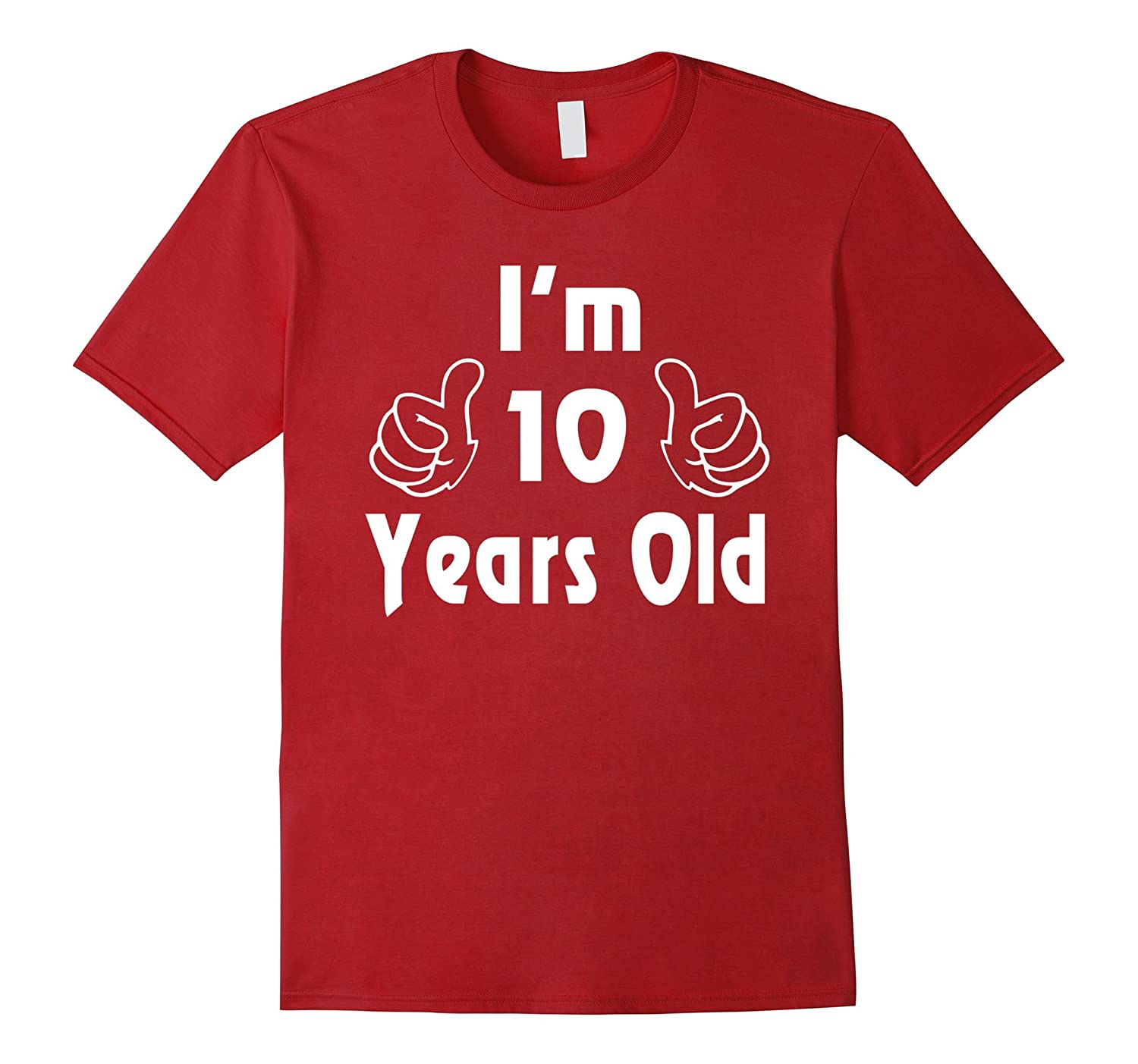 I Am Ten 10 Years Old 10th Birthday Gift Ideas Boy Girl Vaci