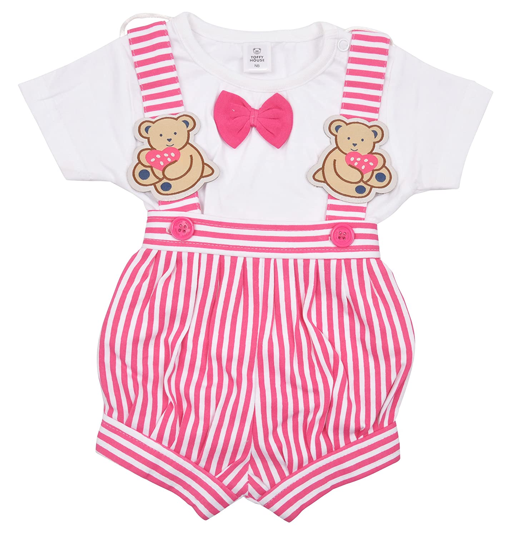 64c1515ddeb Toffyhouse Baby Girls Teddy Romper (Fuchsia