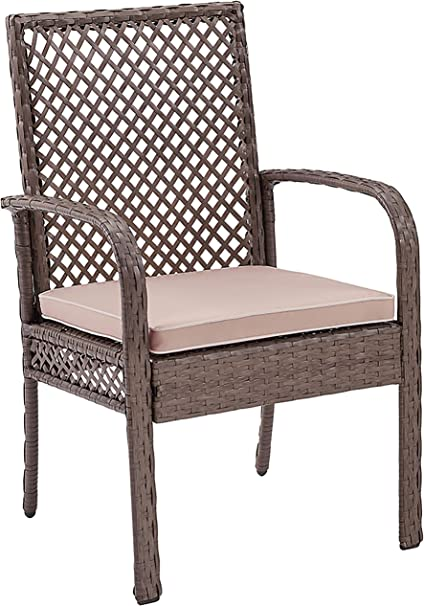 Amazon Com Crosley Furniture Co7177dw Sa Tribeca Outdoor Wicker Dining Chairs Set Of 4 Driftwood Grey Garden Outdoor