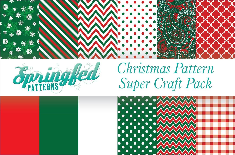 CHRISTMAS PATTERN SUPER CRAFT PACK! 12 Pieces 12x12 Pattern Craft Vinyl Oracal 651 Vinyl Springfed Printing