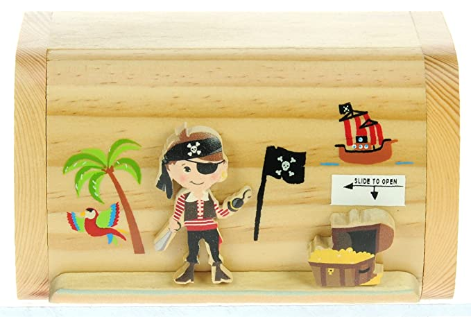 2 opinioni per Namesakes Pirata con tesoro : Il denaro salvadanaio box per bambini e adulti!