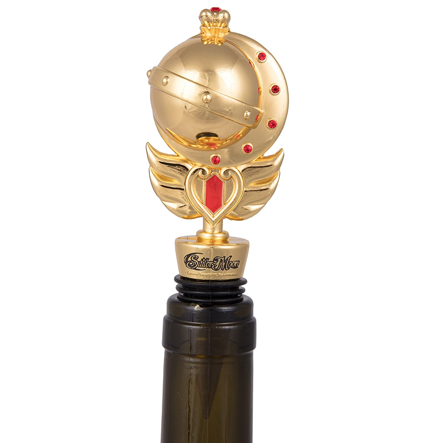Sailor Moon Decorative Scepter Wine Stopper - Heavy Duty Metal Fits Any Bottle - Novelty Gift for the Anime Fan - Officially Licensed SCS Direct