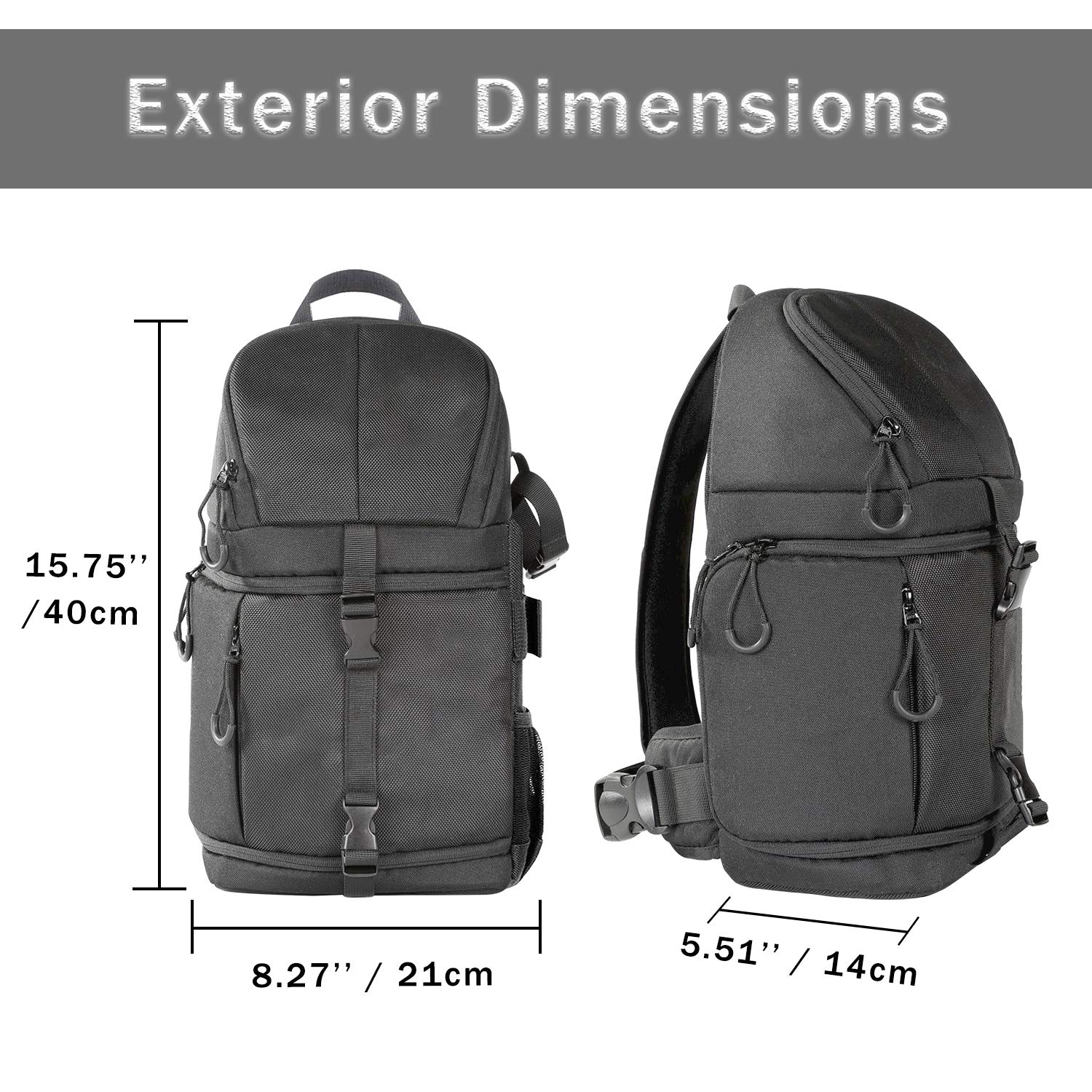 fbad9594d24 Followsun Pro Camera Sling Bag Backpack Waterproof Shockproof Travel Bag  with Rain Cover for Nikon Canon ...