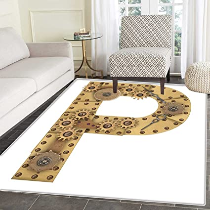 Amazon Com Letter P Anti Skid Area Rug Industrialization And