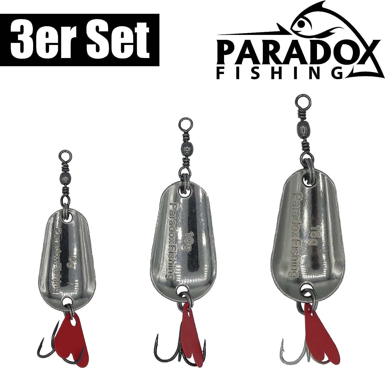 Paradox Fishing Blinker Set 3 St/ück Blinker Angeln 6g//10g//16g Hechtk/öder Barsch K/öder Zander K/öder Hecht K/öder Barschk/öder Spinner Angelk/öder Jigspinner Raubfisch K/öder Set