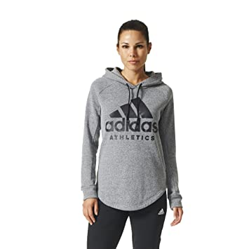 Schwarz adidas Damen Hoodie Sport ID Over Head Hoodie