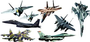 Epic Designs Fighter Jets Giant (8 pcs) Stickers - Removable and repositionable Wall Decals Wall Art for Any Kids Room.