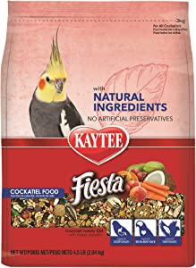 Kaytee Fiesta with Natural Colors Cockatiel Food, 4.5 lbs.
