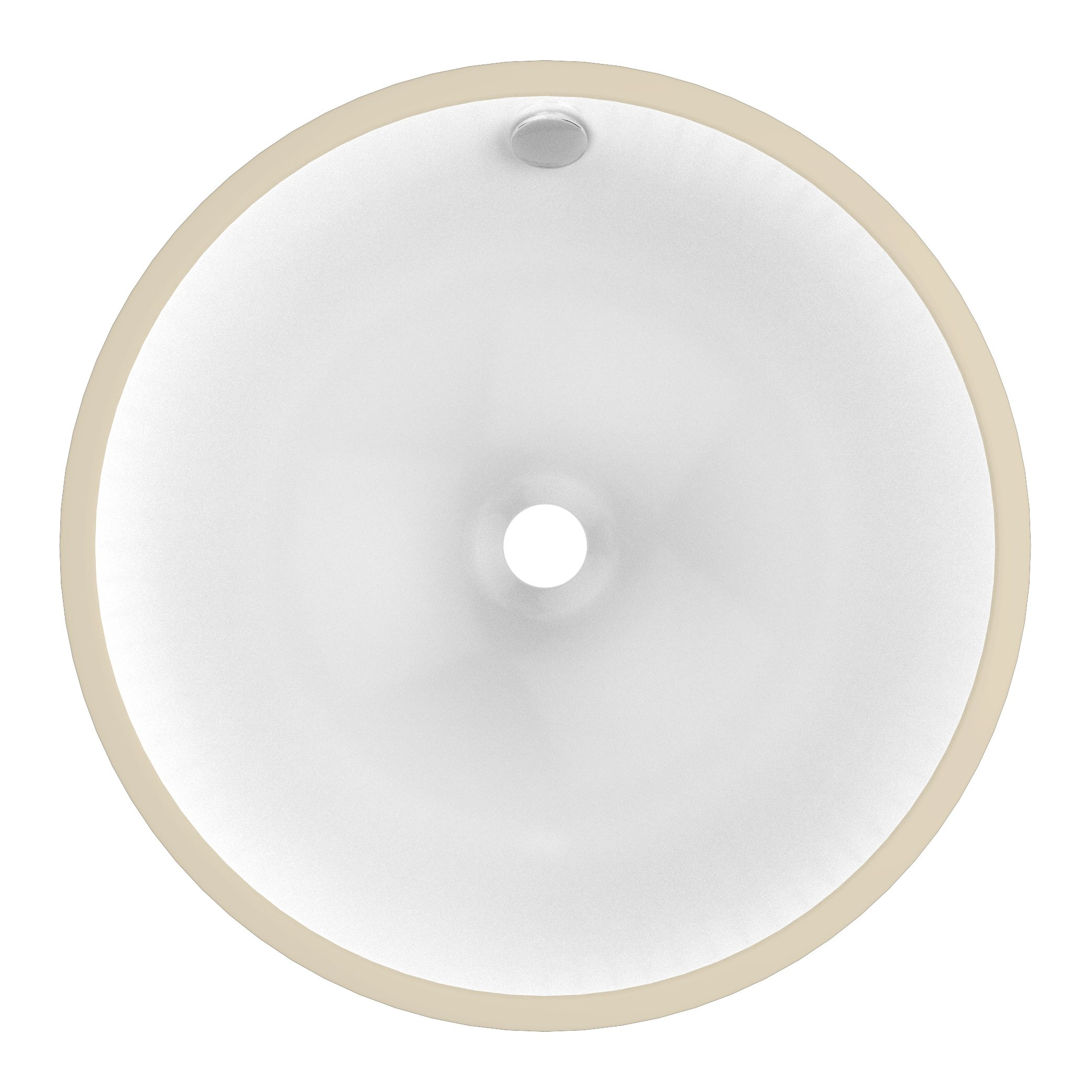 American Imaginations 15.25-in. W x 15.25-in. D Round Undermount Sink In White Color by American Imaginations