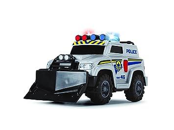 Coche Series Policía Vehículo Con Action Juguete NegroAzulBlanco Dickie FunciónColor 3302001 De BtshrCxQd