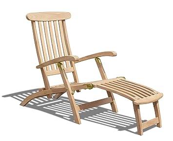 Jati Teak Steamer Chair, Wooden Garden Recliner, Folding Steamer Sun Lounger  Brand, Quality