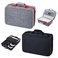 Carrying Case for PS5 Hard Shell Carry Case Travel Bag, Shockproof and Waterproof Storage Bag for PS5, Portable Protective Case Compatible with PS5 Console, Dual Controller and Accessories (Black)