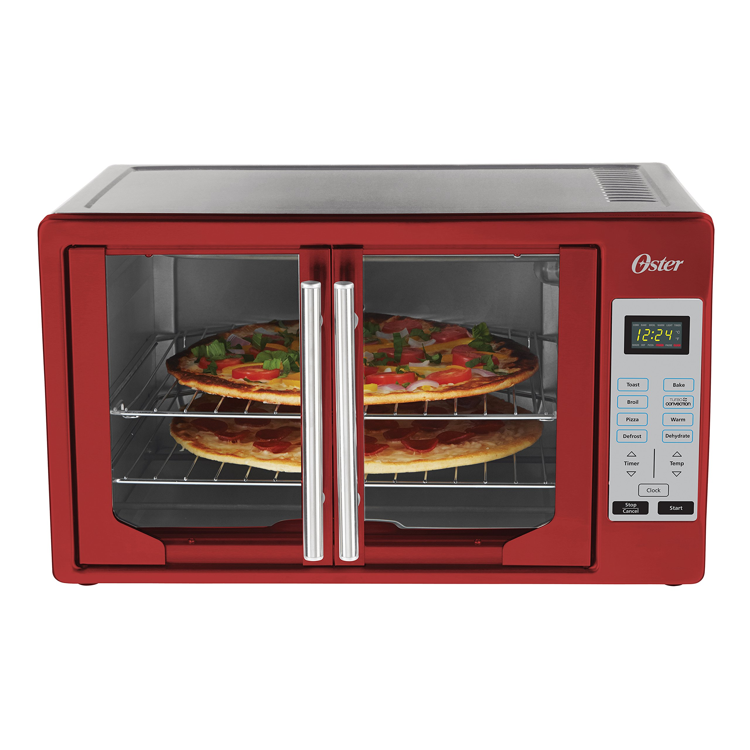 Oster TSSTTVFDDG-R French Door Toaster Oven, Extra Large, Red by Oster