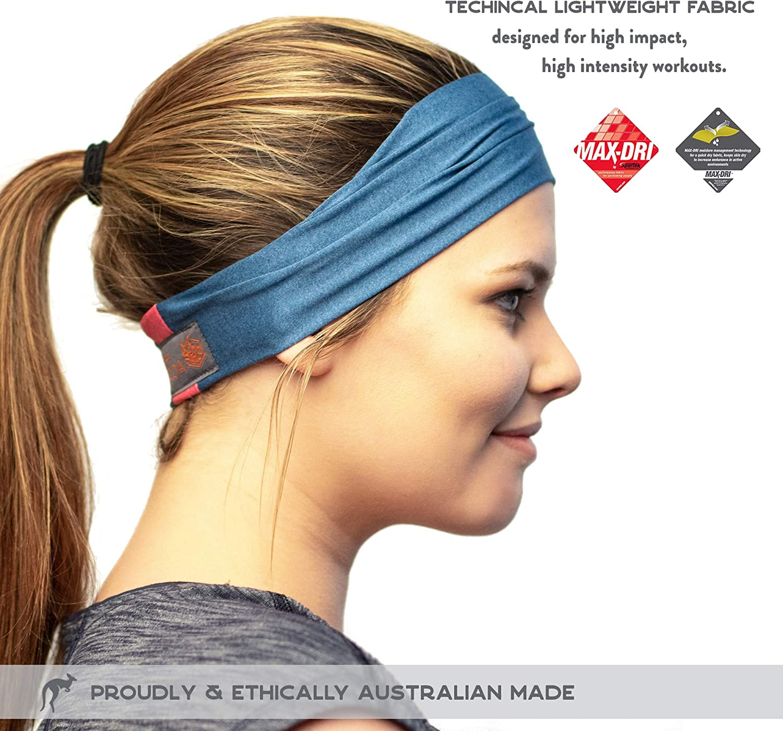 Feuchtigkeitsableitend /& Atmungsaktiv Red Dust Active Sport-Stirnband Yoga und mehr Radfahren f/ür Damen und Herren Das ideale Schwei/ßband zum Joggen