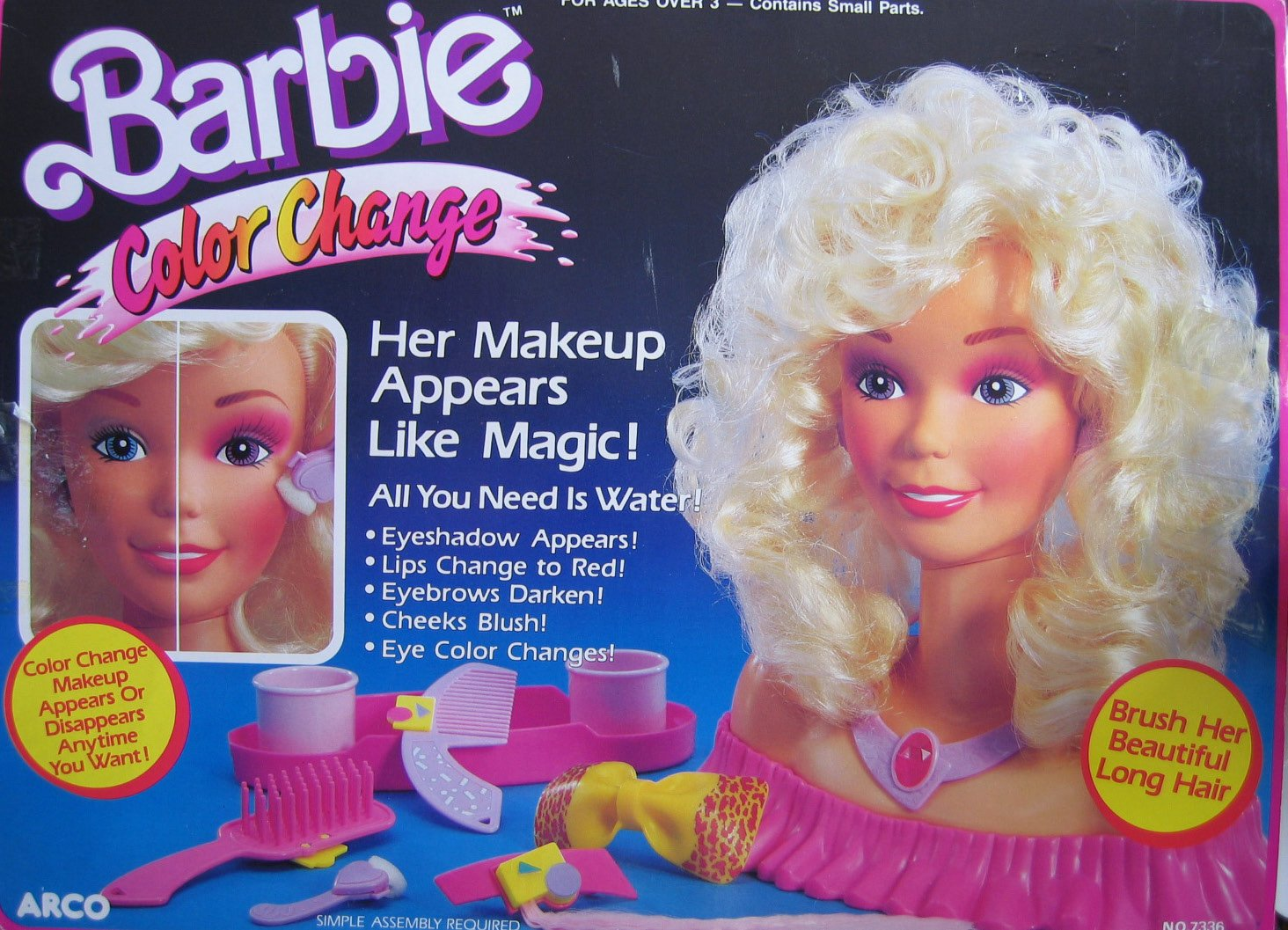 Amazon Barbie Color Change Playset Her Make Up Appears Like