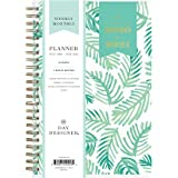 """Day Designer for Blue Sky 2020-2021 Academic Year Weekly & Monthly Planner, Flexible Cover, Twin-Wire Binding, 5"""" x 8"""", Palms"""