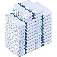 Utopia Towels Kitchen Towels 24 Pack, 15 x 25 Inches Cotton Dish Towels, Tea Towels and Bar Towels, Blue