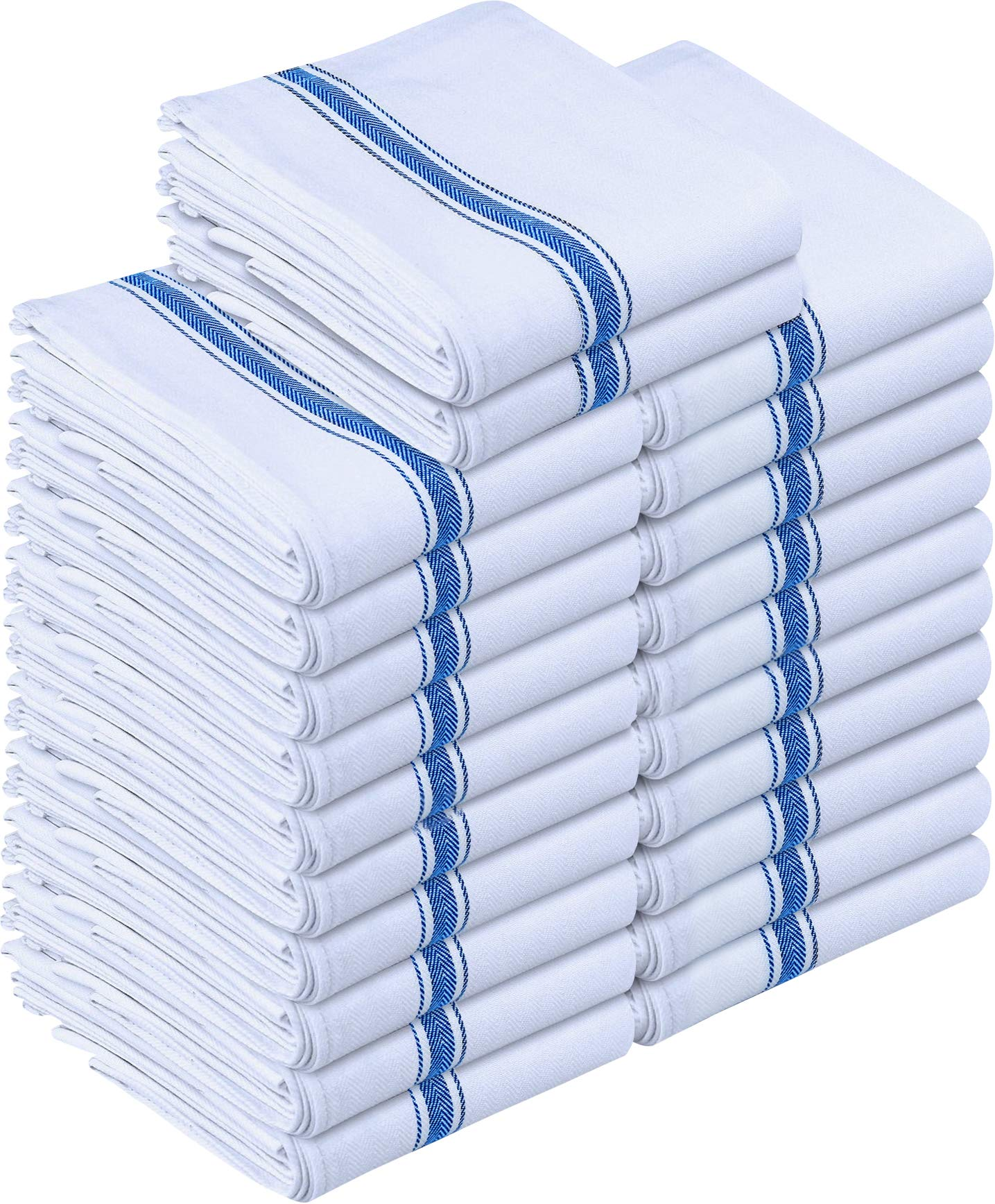Utopia Towels Kitchen Towels 24 Pack, 15 x 25 Inches Cotton Dish Towels, Tea Towels and Bar Towels, Blue by Utopia Towels