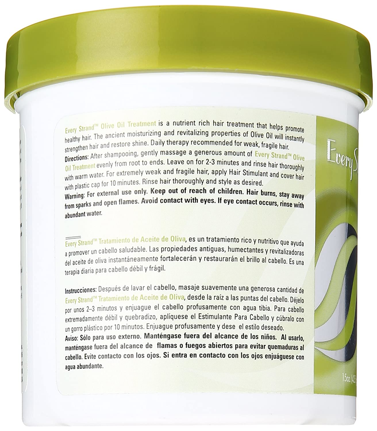 Amazon.com : Every Strand Olive Oil Treatment, 15 Ounce : Hair And Scalp Treatments : Beauty