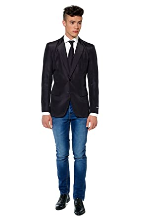 Suitmeister Men S Solid Suit Blazer Sport Jacket And Tie At Amazon