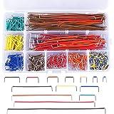 AUSTOR 560 piezas Kit de cables de puente de 14 longitudes surtidos preformados para tableros de pan con caja gratis