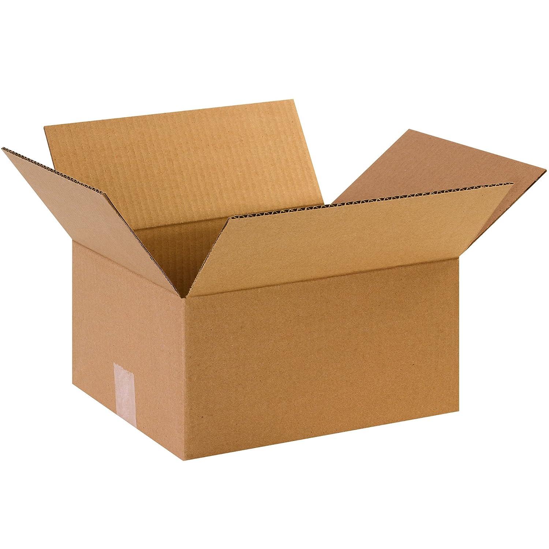 12L x 10W x 6H Pack of 25 BOX USA B12106 Corrugated Boxes Kraft