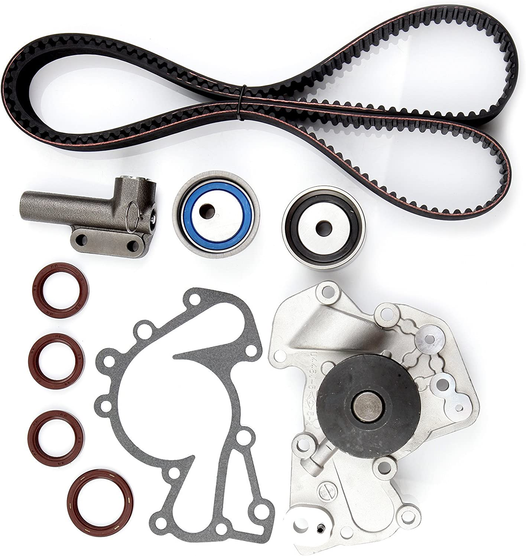 Timing Belt Kit w//Water Pump Tensioner Gasket G6BA G6BV Fits 99-10 Hyundai Santa Fe//Sonata//Tiburon//Tucson//Kia Optima//Sportage 2.5L 2.7L V6 DOHC 24v