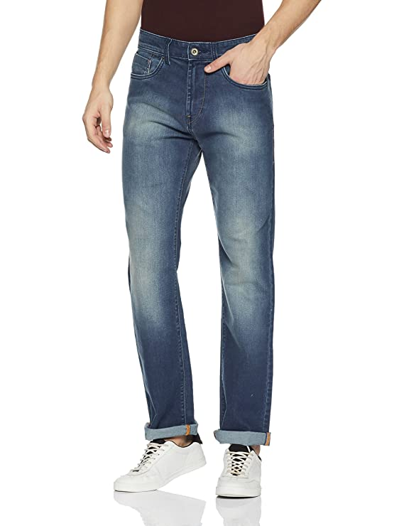Flying Machine Men's (Django) Slim Fit Straight Leg Jeans Men's Jeans at amazon