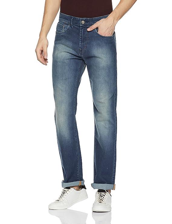 Flying Machine Men's (Django) Slim Fit Straight Leg Jeans Men's Jeans at amazon