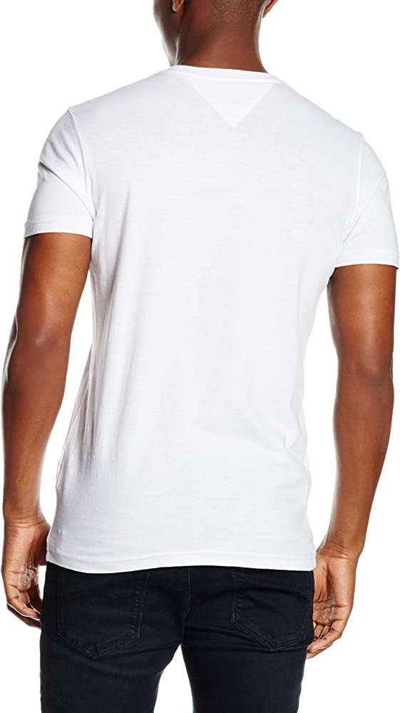 Tommy Hilfiger Thdm Cn T-Shirt S/S 10 Camiseta, Blanco (Classic ...