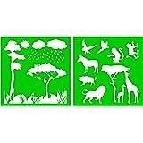 Rey le/ón Simba y Mufasa Mylar aer/ógrafo Pintura Crafts arte de la pared de la plantilla 5-XXS