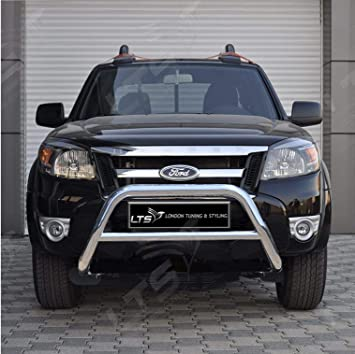 BULL BAR GUARD BLACK STAINLESS STEEL AXLE NUDGE A-BAR