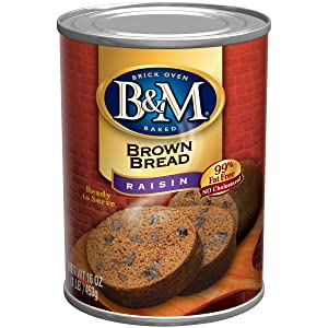 B & M Brown Bread, Raisin Bread, 16 Ounce (Pack of 12)