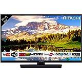 """Téléviseur HITACHI de 32"""" (80,01cm) FHD / SMART TV: Netflix, Youtube, Internet, facebook / Wifi / 3 HDMI / VGA-PC / USB (Enregistreur TV + Lecteur multimédia)"""